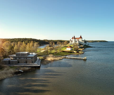 view over Läckö Castle