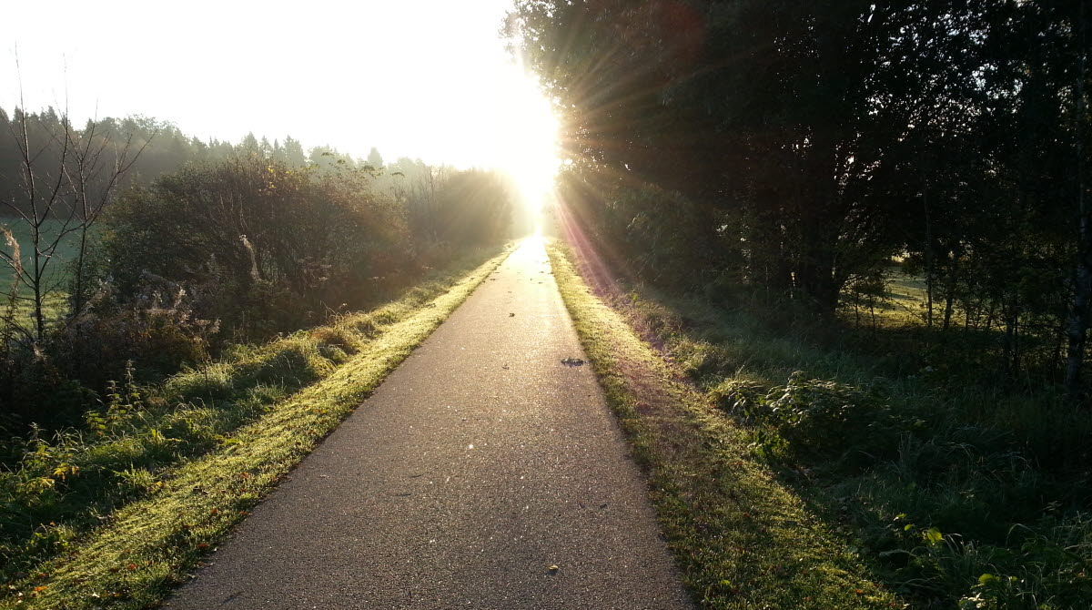 asfalterad cykelbanor i Ulricehamn