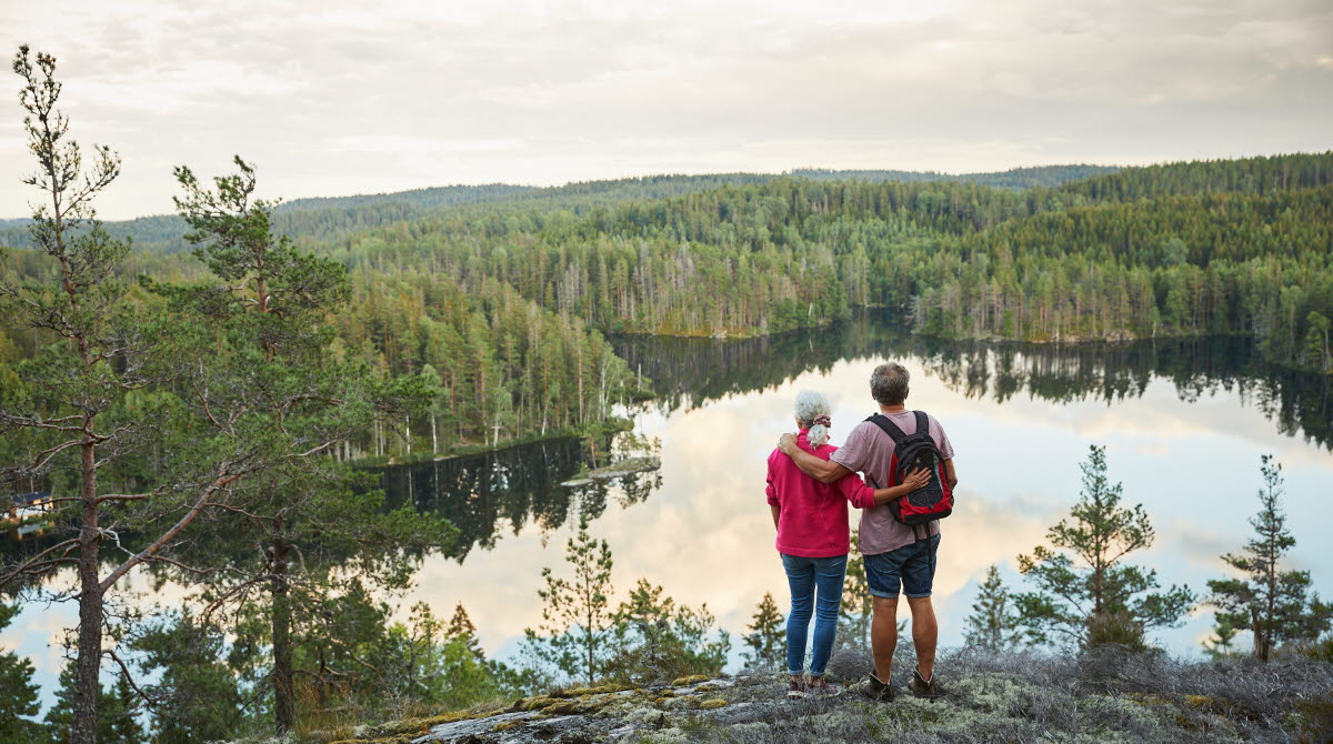 Couple walking in Dalsland