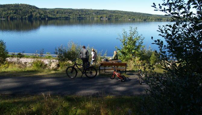 Mycket fina asfalterade cykelbanor i Ulricehamn