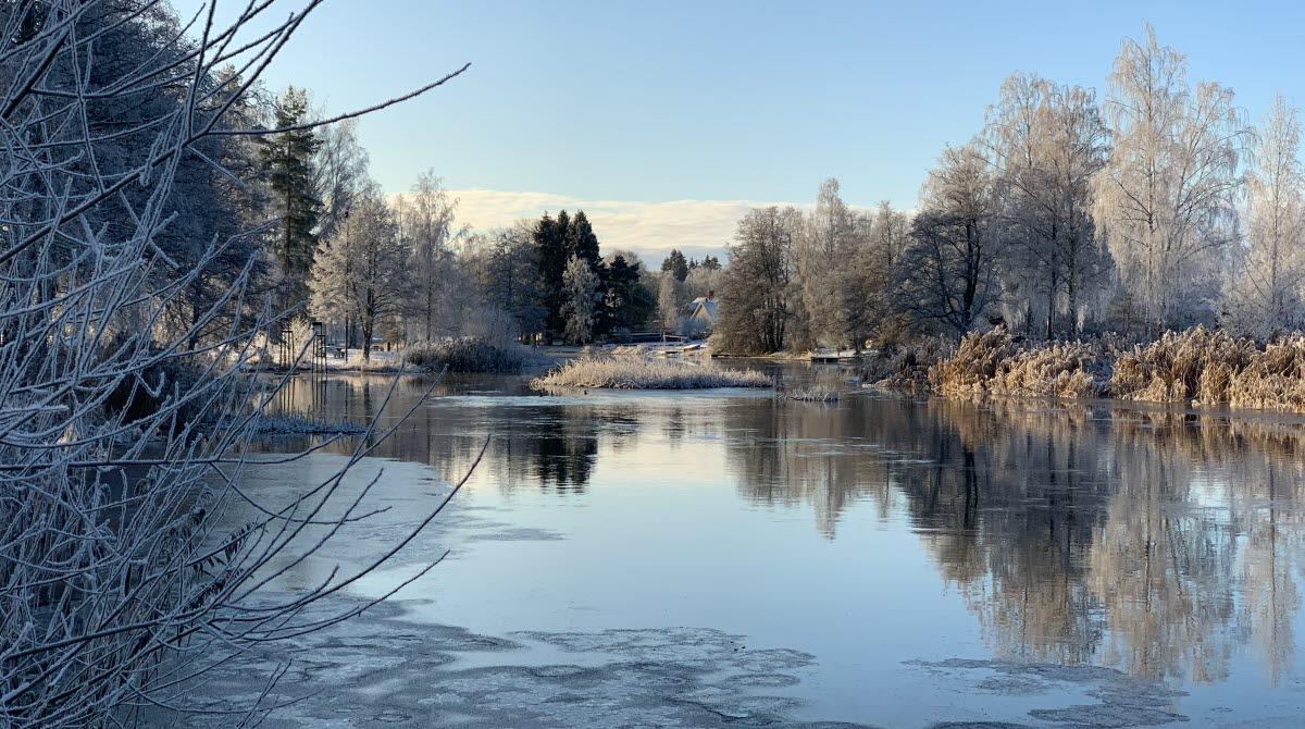 Vinter på Ånaplan i Tibro