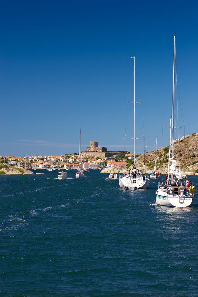Boats going towards Marstrand -Photo Cred Jonas Ingman