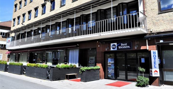 The entrance to the Best Western Hotel Trollhättan.
