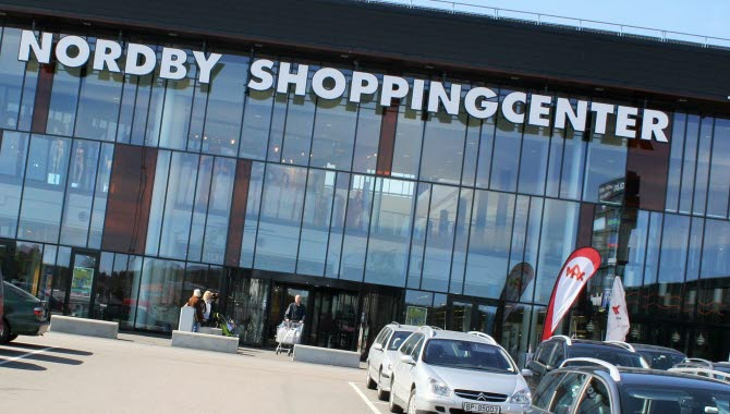 Entré till Nordby shoppingcenter