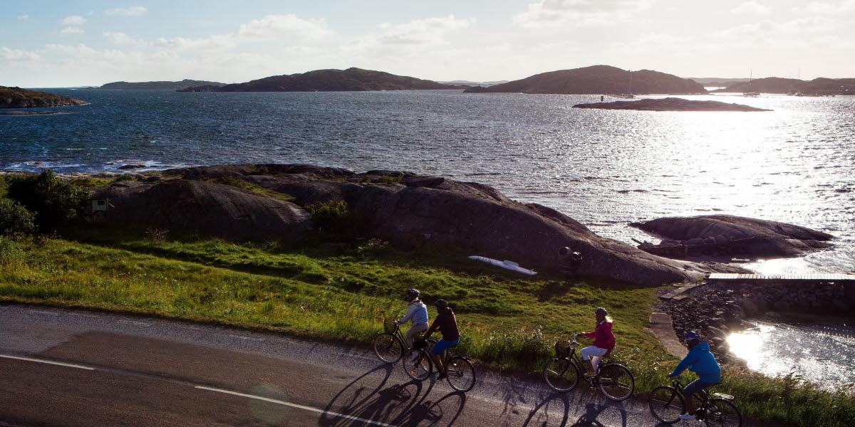Grupp cyklister