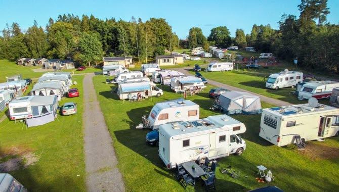 RV area at Stenrösets Camping.