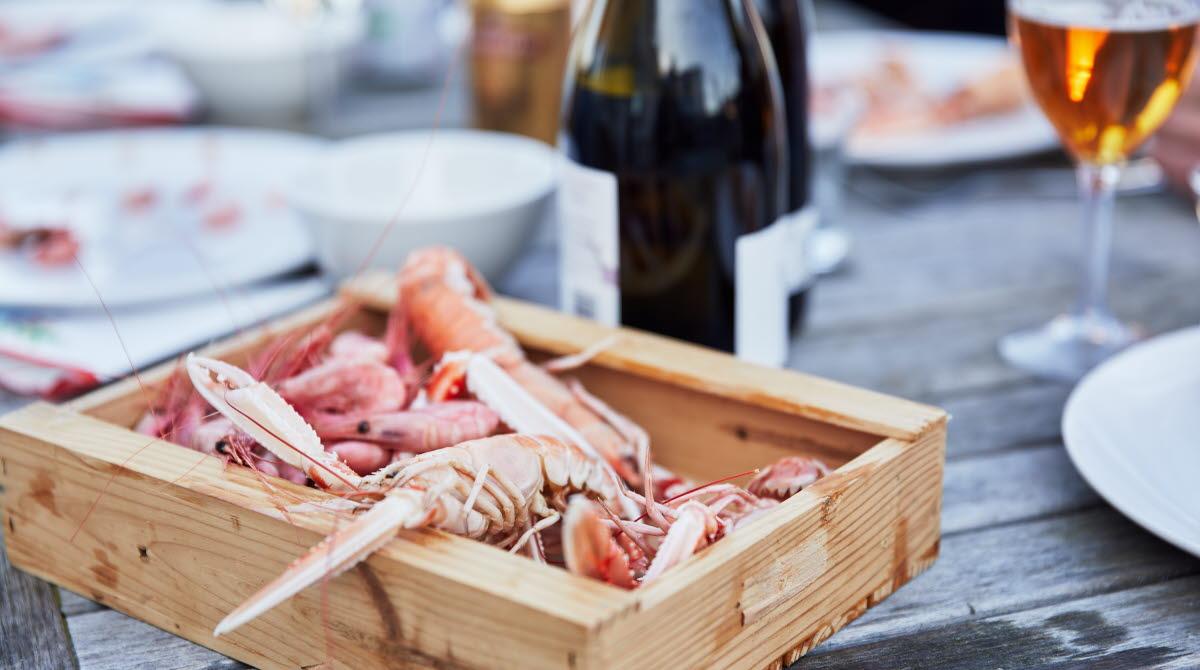 Seafood at Vrångö Island