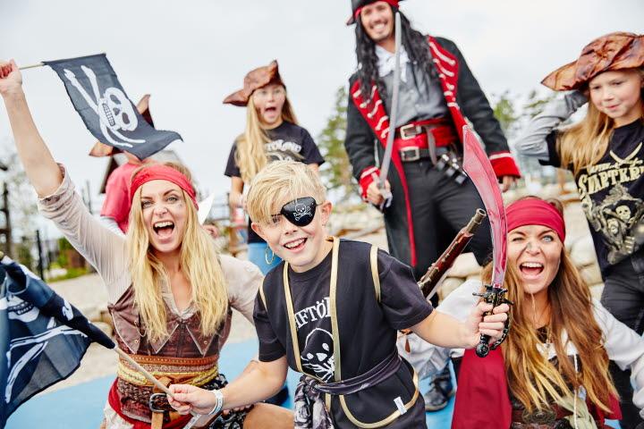Pirater på Daftö Resort.