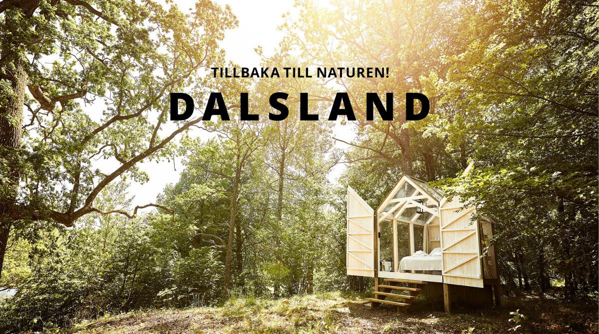 Glashus i dunge med text Dalsland