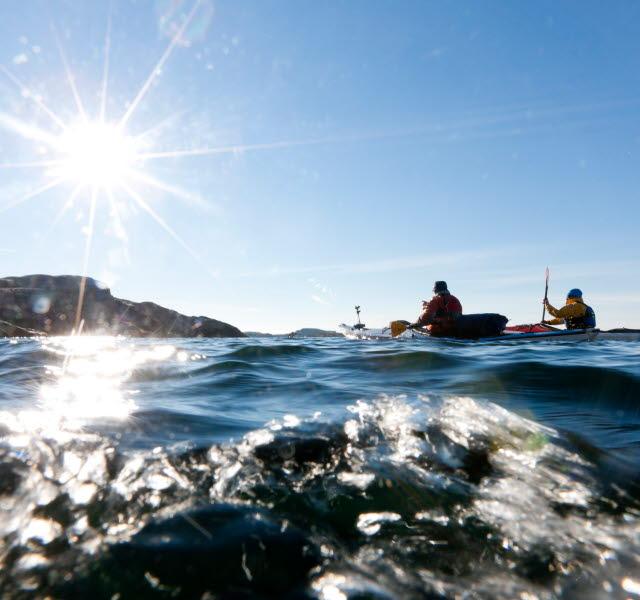 Kayaking along the coast of Bohuslän