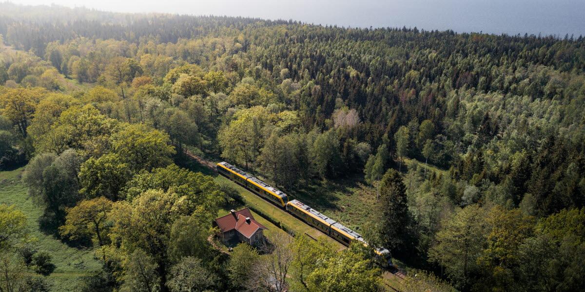 Tåg genom Kinnekulle