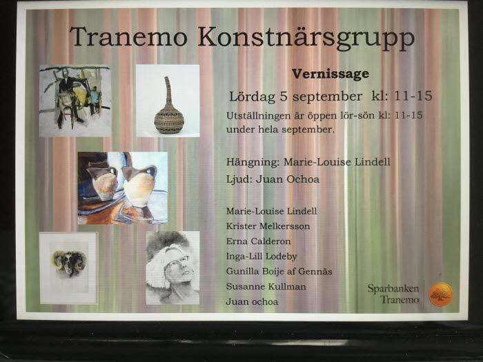 Konstutställning Tranemokonstnärsgrupp