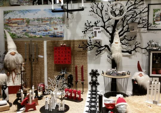 Julskyltning i butik