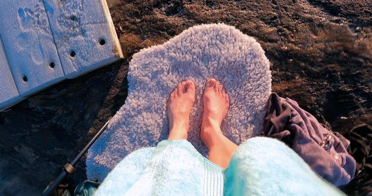 Vinterbad på Öckeröarna