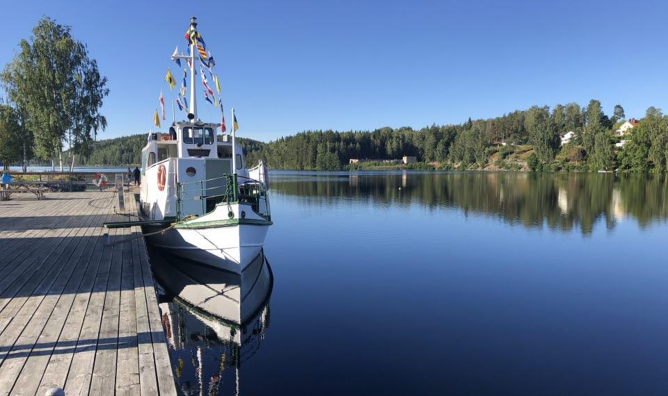 Kanalbåt Storholmen i Bengtsfors vid Dalslands Kanal