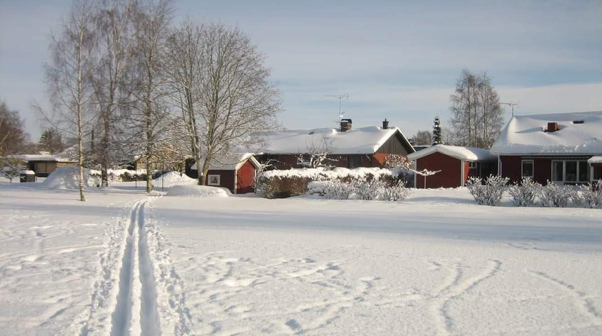 vandra på snö