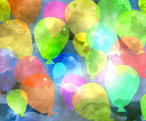 Ballonger akvarell