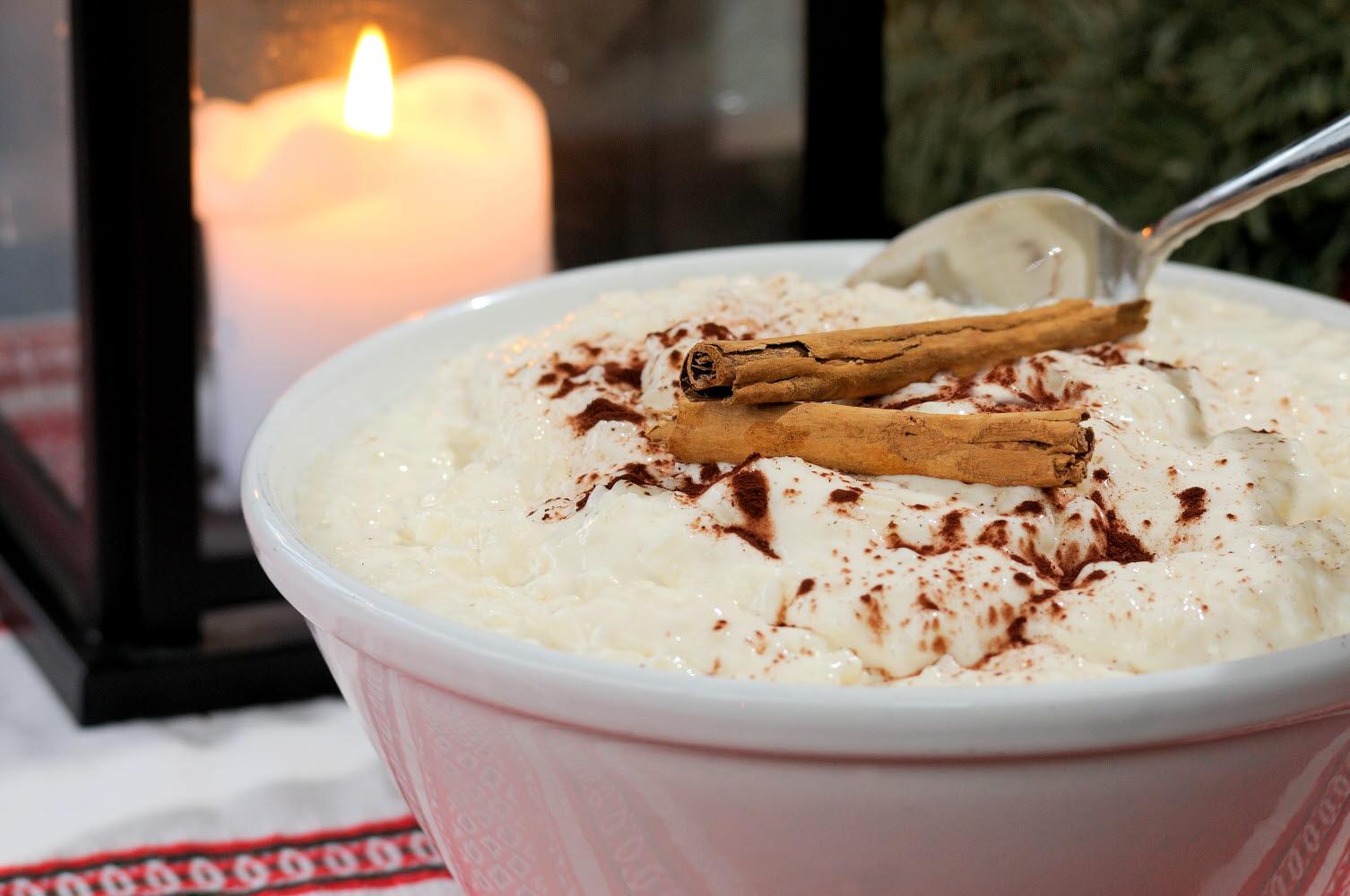 Christmas porridge with cinnemon -  Photo Cred Göran Assner