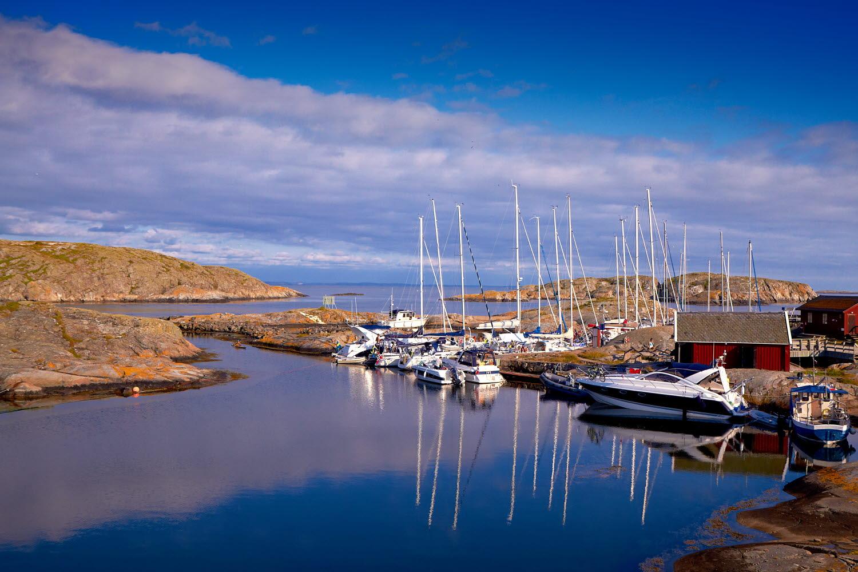 Boats at Väderöarna - Photo cred Jonas Ingman