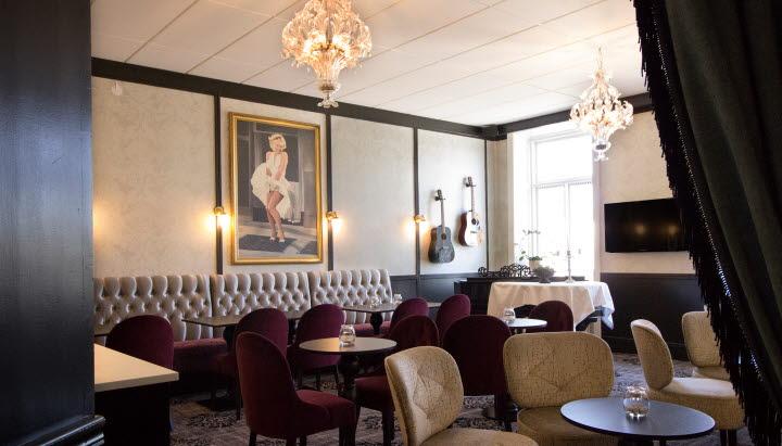 Lounge på Grand Hotel Alingsas.