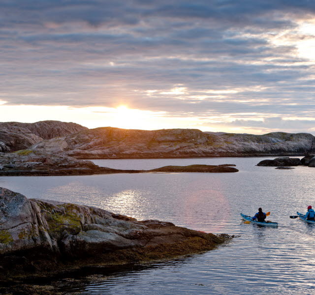 Kayak in the archipelago of Bohuslän