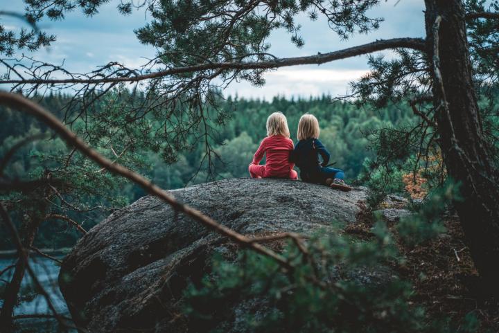 Barn i skogen. Dalsland