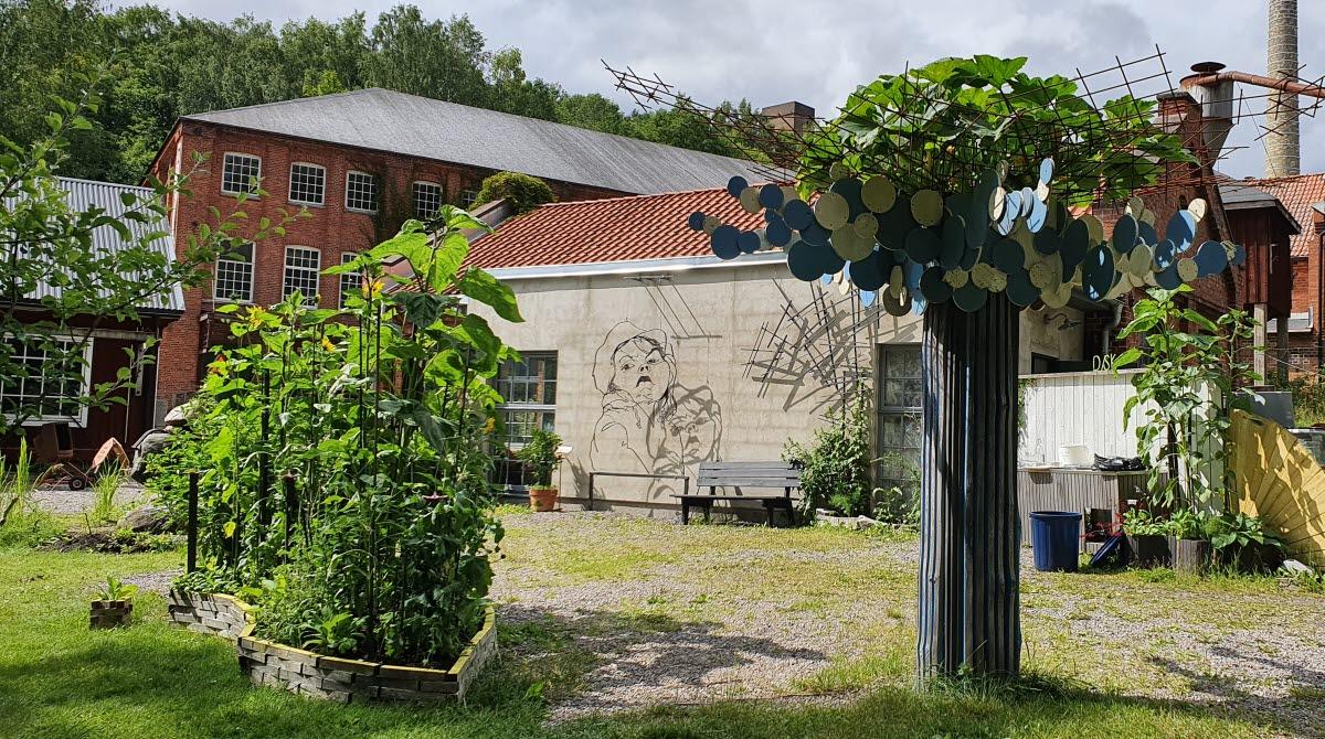Skulpturparken på Not Quite i Fengersfors.