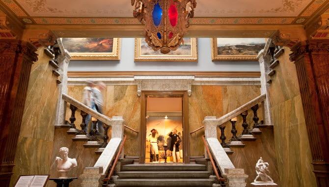 The entrance at Vänersborgs museum.