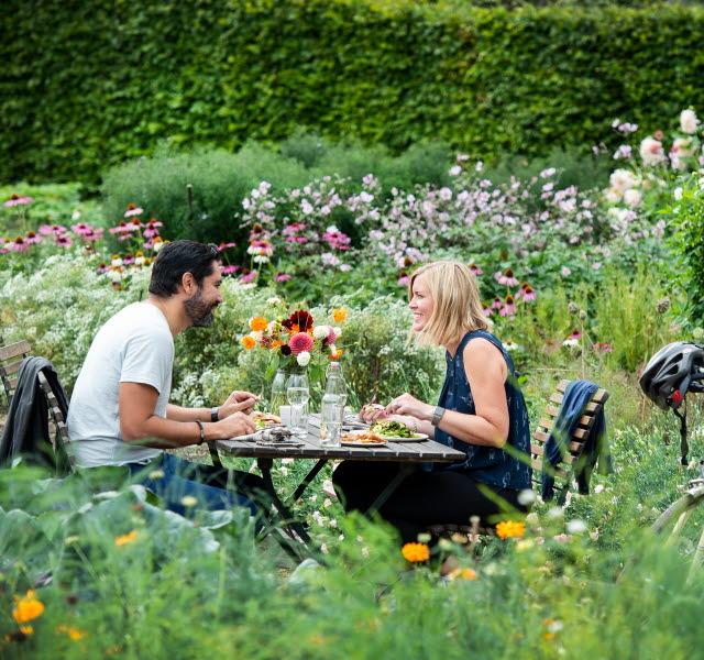 Couple in a garden