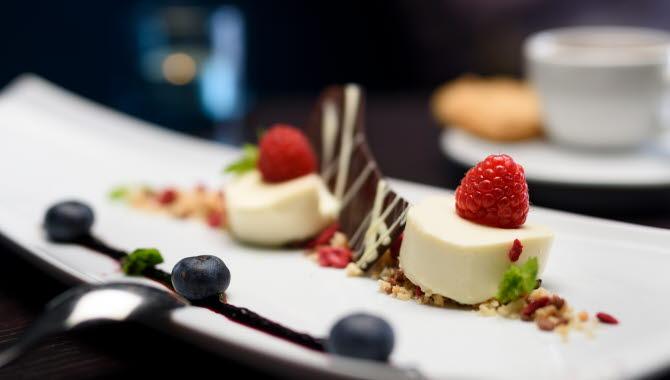 Dessert på Grand Hotel Alingsas.