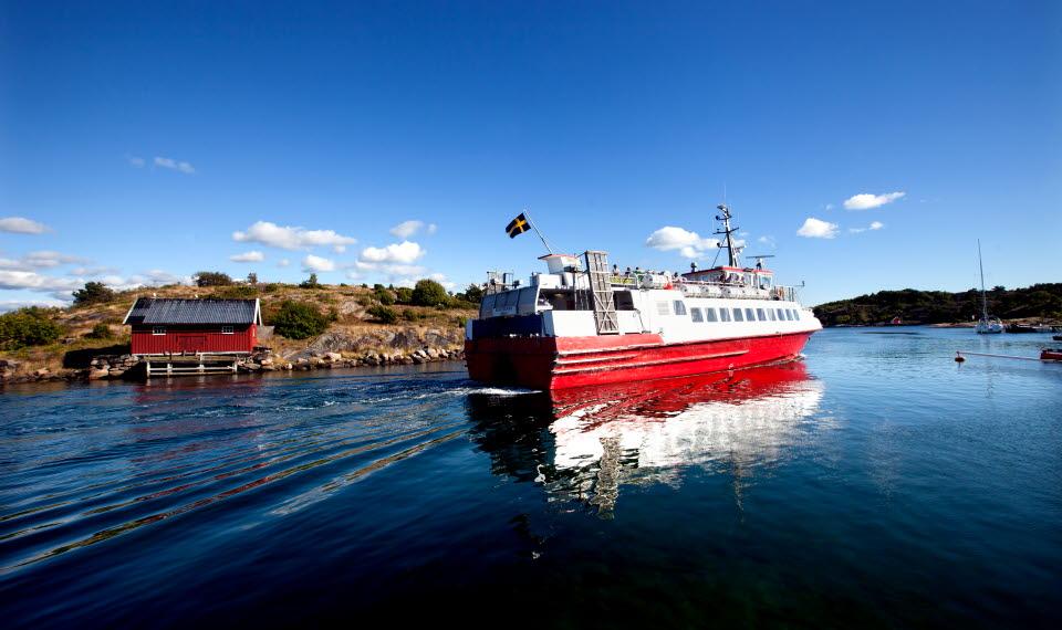 Skärgårdsvy med Kosterbåten