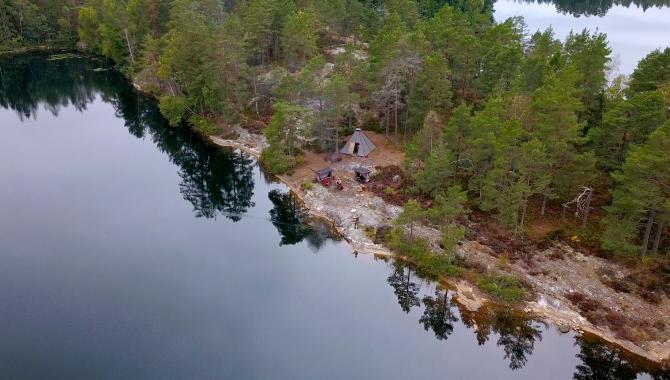 Lägerplats vid Livarebosjön i Dalsland