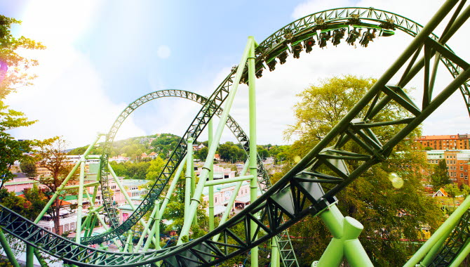 Rollercoast at Liseberg.