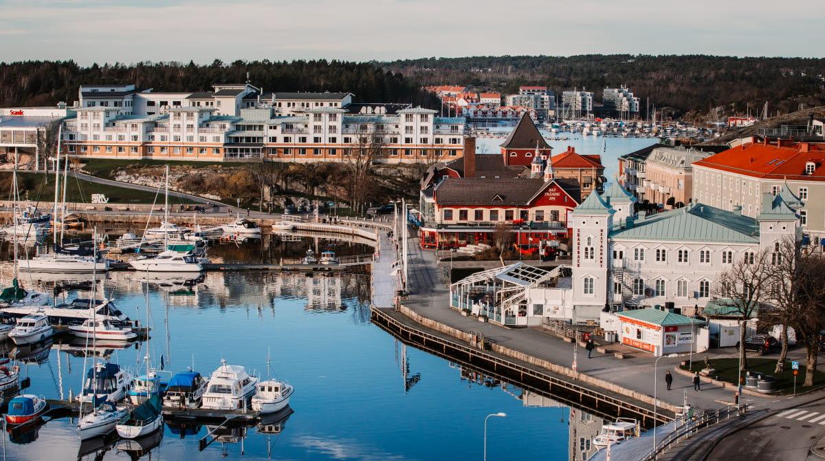 Höstbild Strömstad stad