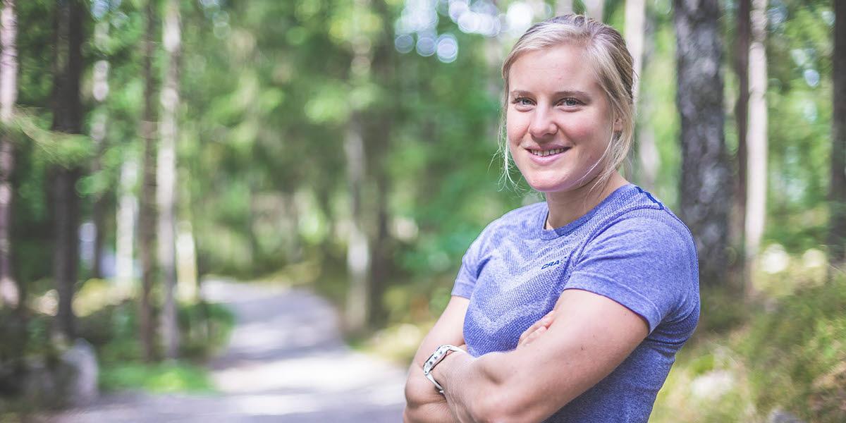 Hanna falk, en svensk längåkningsstjärna från Ulricehamn.