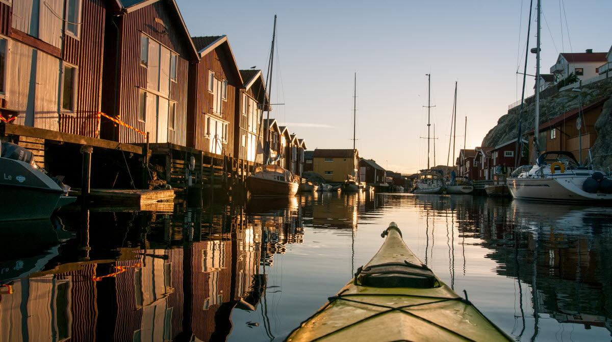 Kayaking around Smögen