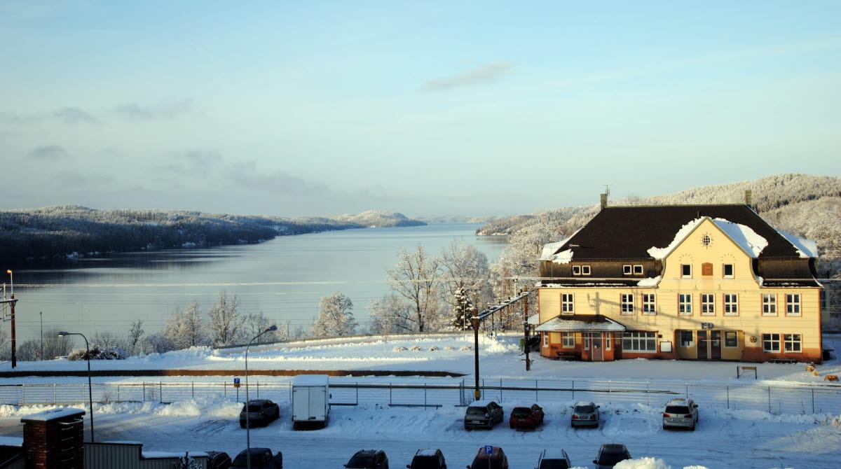 utsikt från kommunhuset vinter