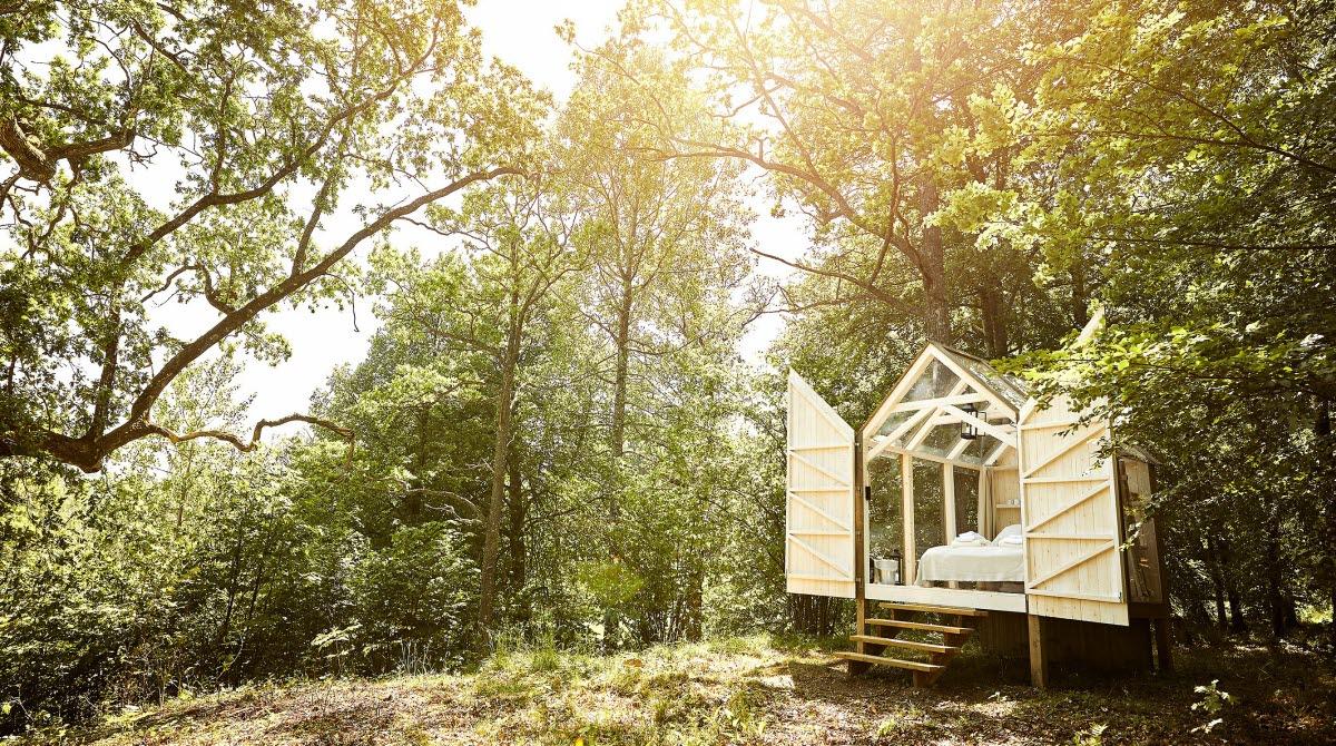 Glass cabin at Baldersnäs