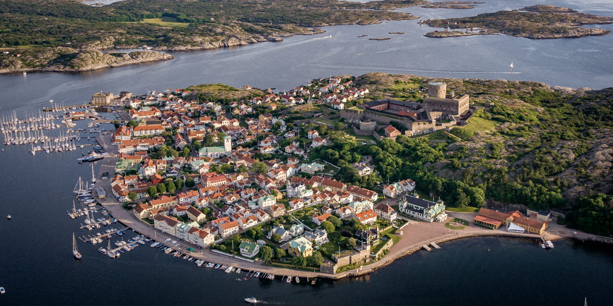 Drone photo over Marstrand