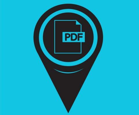 kart ikon pdf markör