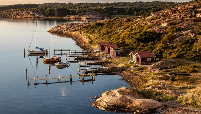 Flygvy över Kämpersvik
