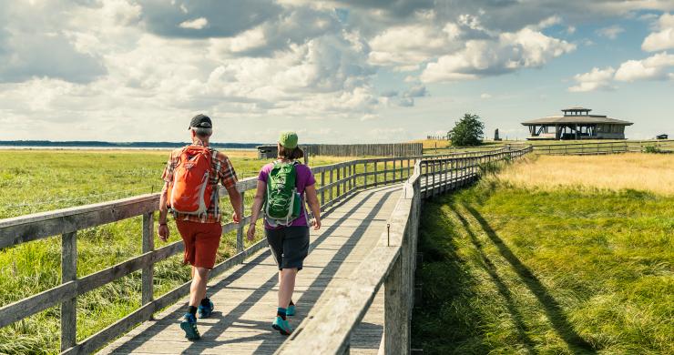 Hikers in West Sweden