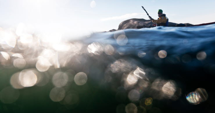 Kajak längst med Bohusläns kust