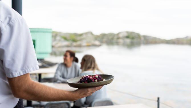 Tallrik från restaurang Vatten i Skärhamn