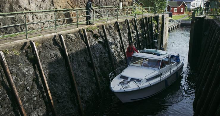 Slussa på Dalslands kanal.