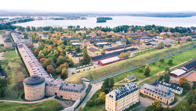 Karlsborgs Fortress as seen from above.