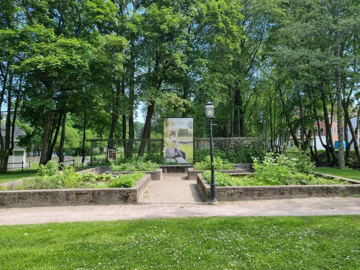 Kryddträdgården på Turbinhusön i Tidaholm.