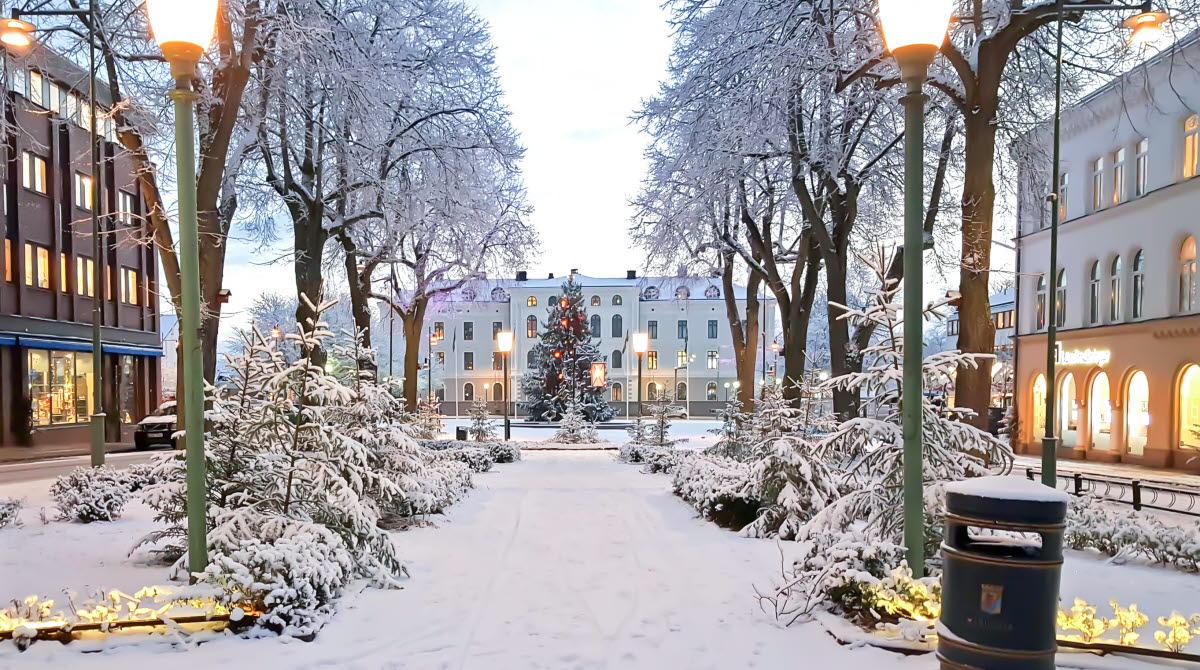 Vinter i Esplanaden.