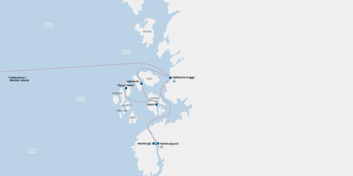 hamburgsund kart Route map Fjällbacka/Hamburgsund