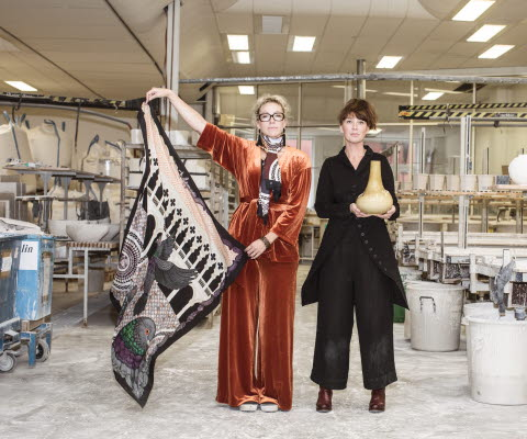 Two designers in the Porcelain Factory in Lidköping